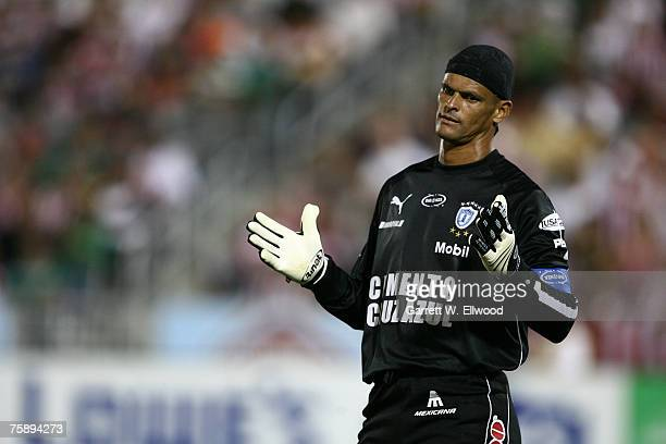 Miguel Calero of CF Pachuca during the SuperLiga match against Chivas on July 31 2007 at Dick's Sporting Goods Park in Commerce City Colorado
