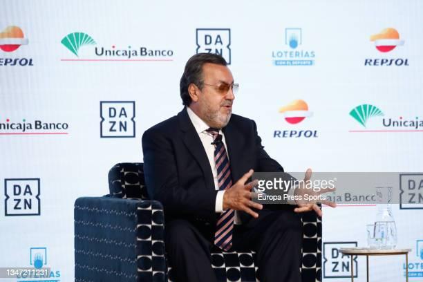 "Miguel Carballeda attends during the Europa Press interview ""Desayunos Deportivos Europa Press"" to Miguel Carballeda, President of the Spanish..."