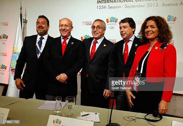 Miguel Carballeda Jose Ignacio WertPresident of the Madrid 2020 bid committee Alejandro Blanco Mayor of Madrid Ana Botella and President of the...
