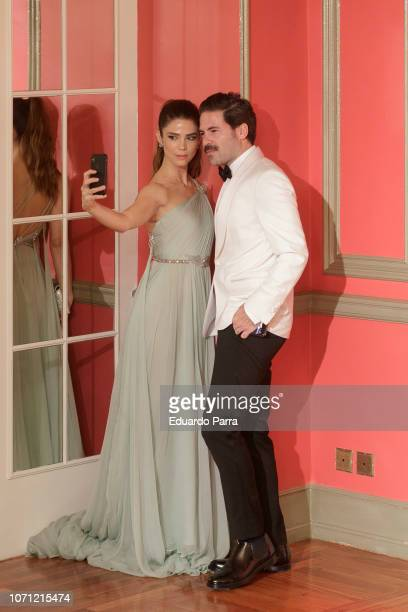 Miguel Carrizo and Juana Acosta attend the 'GQ Men of the Year' awards photocall at Palace hotel on November 22 2018 in Madrid Spain
