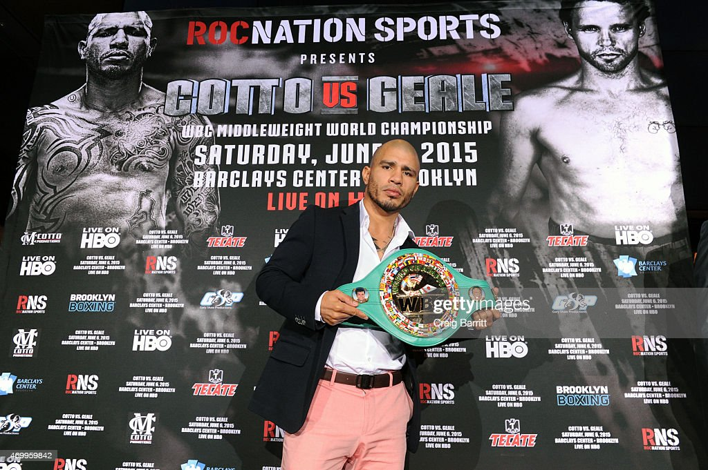 Roc Nation Sports & Miguel Cotto Promotions Present Miguel Cotto vs. Daniel Geale on June 6 From Barclays Center in Brooklyn Live on HBO: Official Press Conference at The 40/40 Club