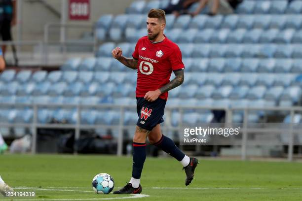 Miguel da Silva Rocha of Lille OSC in action during the pre-season friendly football match between FC Porto and Lille OSC at the Algarve stadium in...