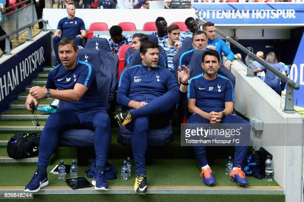 Miguel D'Agostino Tottenham Hotspur first team coach Mauricio Pochettino Manager of Tottenham Hotspur and Jesus Prrez Tottenham Hotspur assistant...