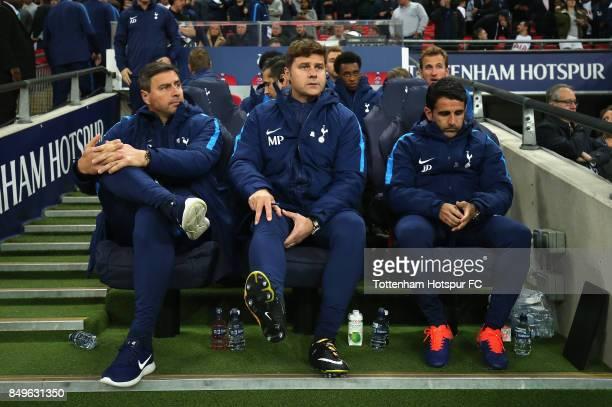 Miguel D'Agostino Tottenham Hotspur first team coach Mauricio Pochettino Manager of Tottenham Hotspur and Jesus Perez Tottenham Hotspur assistant...