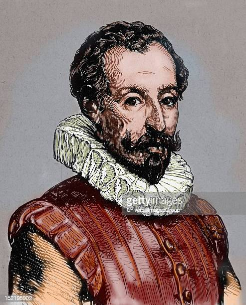 CERVANTES Miguel de Spanish novelist poet and playwright Colored engraving