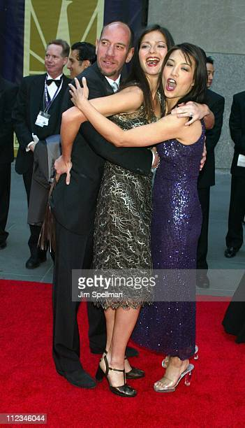 Miguel Ferrer Jill Hennessy MingNa during NBC 75th Anniversary at Rockefeller Plaza in New York City New York United States