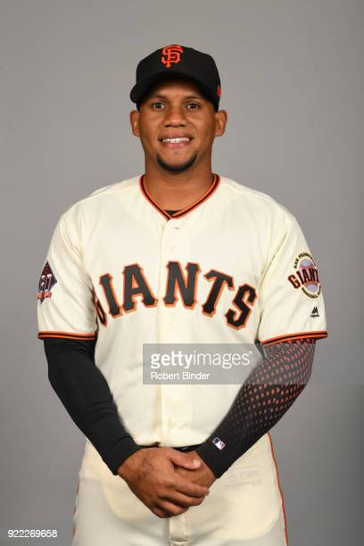 Miguel Gomez of the San Francisco Giants poses during Photo Day on Tuesday February 20 2018 at Scottsdale Stadium in Scottsdale Arizona
