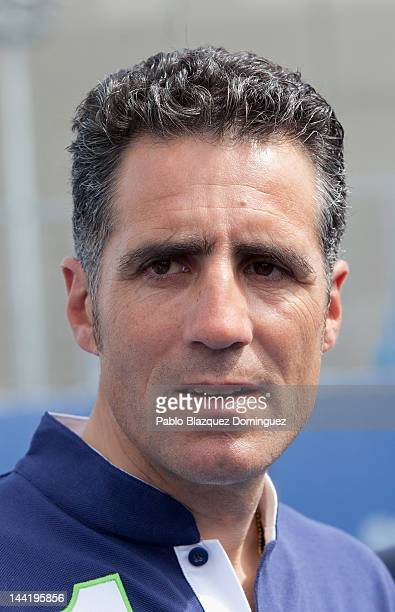 Miguel Indurain attends 'Pasa La Red' project presentation by Laureus Spain Foundation at Caja Magica on May 11 2012 in Madrid Spain