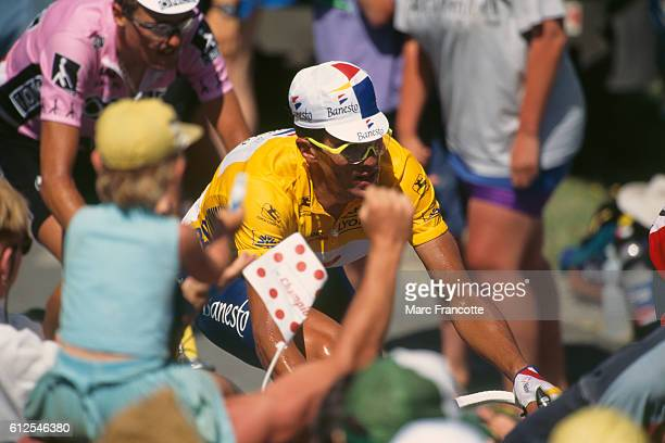 Miguel Indurain from Spain during Stage 15 of the 1995 Tour de France.