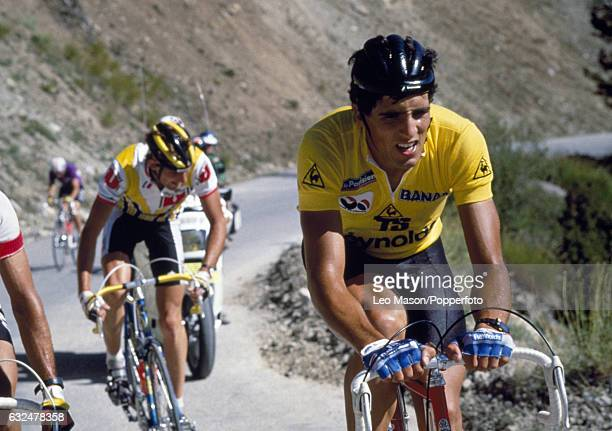 Miguel Indurain of Spain in action during the Tour de France, circa July 1995.