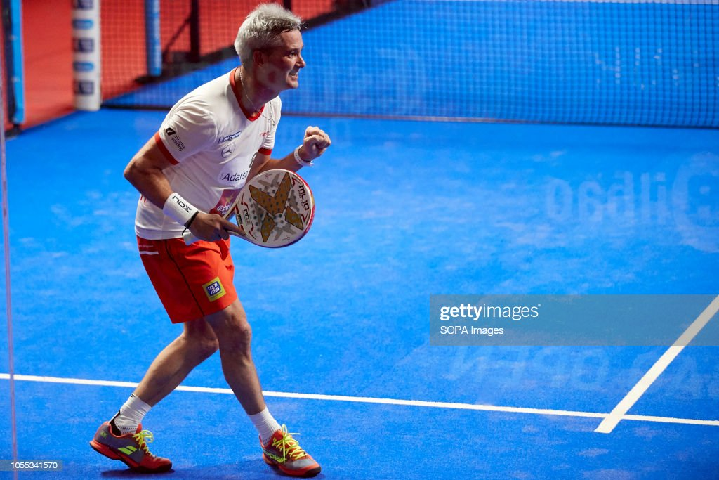 Miguel Lamperti Professional Paddle Player Seen In Action During