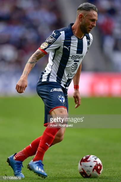 Miguel Layún of Monterrey drives the ball during the 9th round match between Monterrey and Atletico San Luis as part of the Torneo Clausura 2020 Liga...