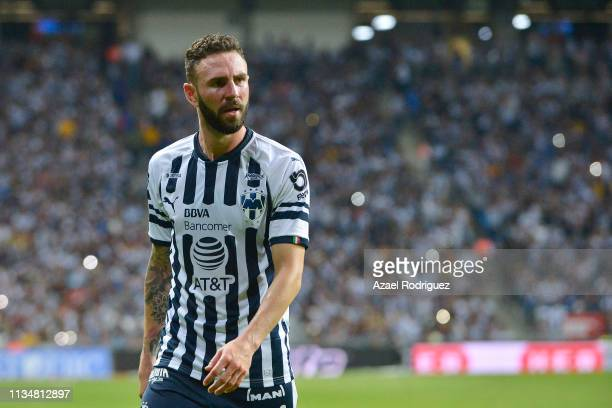 Miguel Layún of Monterrey looks on during a 10th round match between Monterrey and Tigres UANL as part of Torneo Clausura 2019 LIga MX at BBVA...
