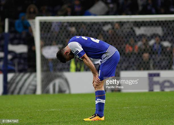 Miguel Layún of Porto reacts at the end off the UEFA Europa League match between FC Porto and Borússia Dortmund at Dragao Stadium Borussia Dortmund...