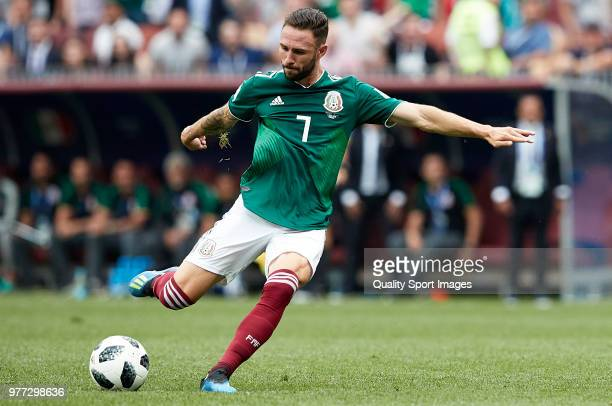 Miguel Layun of Mexico in action during the 2018 FIFA World Cup Russia group F match between Germany and Mexico at Luzhniki Stadium on June 17 2018...