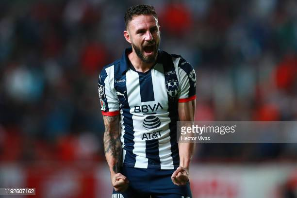 Miguel Layun of Monterrey celerbrates during the Semifinals second leg match between Necaxa and Monterrey as part of the Torneo Apertura 2019 Liga MX...