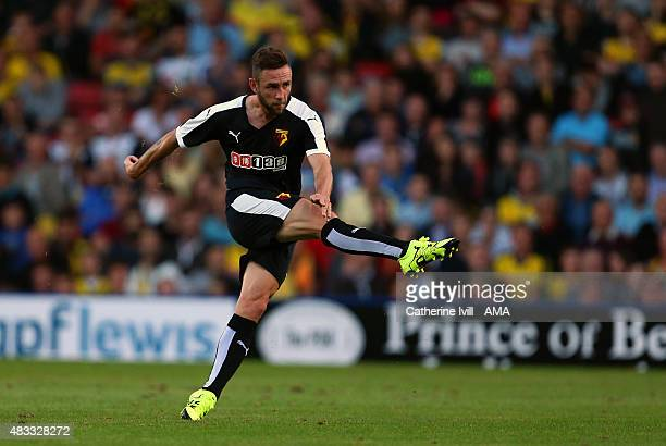 Miguel Layun of Watford during the preseason friendly between Watford and Seville at Vicarage Road on July 31 2015 in Watford England