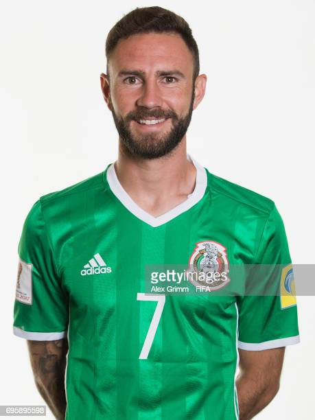 Miguel Layun poses for a picture during the Mexico team portrait session on June 14 2017 in Kazan Russia
