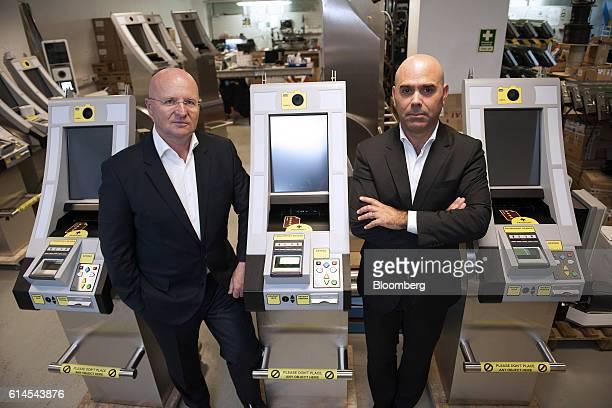 Miguel Leitmann chief executive officer of VisionBox Solucoes De Visao Por Computador SA left and Bento Correia chairman of VisionBox Solucoes De...