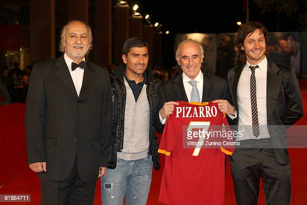 Miguel Littin David Pizarro Sergio Bitar and Benjamín Vicuña attend the 'Dawson Island 10' Premiere during day 2 of the 4th Rome International Film...