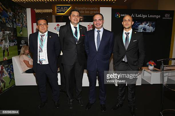 Miguel Lopez CEO en Marka Sports and Entertainment Benjamin Tovar Prince of Jordan Ali Bin al Hussein and guest attend the Soccerex Americas Forum...