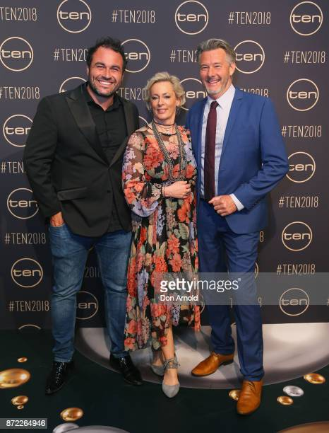 Miguel MaestreAmanda Keller and Barry Du Bois pose during the Network Ten 2018 Upfronts on November 9 2017 in Sydney Australia