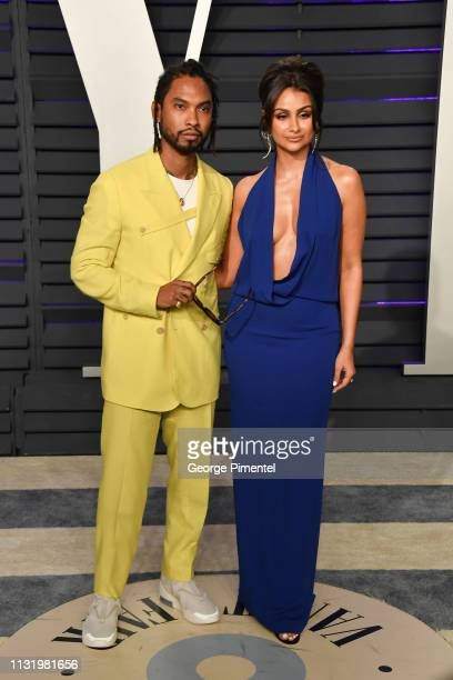 Miguel Mandi and Nazanin Mandi attend the 2019 Vanity Fair Oscar Party hosted by Radhika Jones at Wallis Annenberg Center for the Performing Arts on...