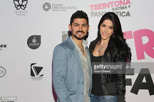 Miguel Martinez and Daniela Basso attend the Treintona Soltera Y Fantastica Mexico City premiere at Cinemex Antara Polanco on October 4 2016 in...