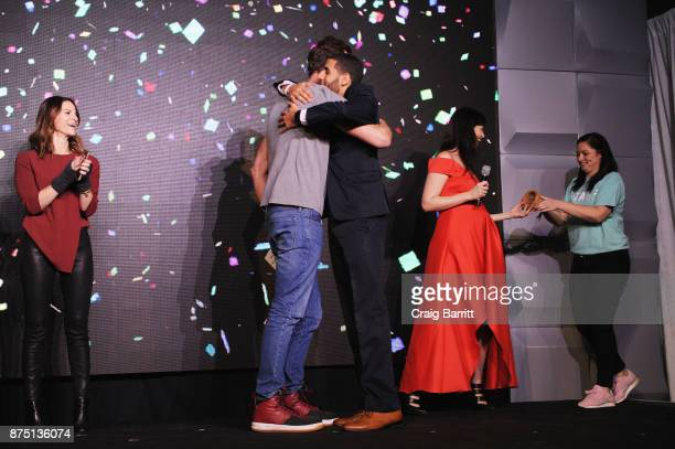 Miguel McKelvey Karim Abouelnaga and Adi Neumann attend WeWork Celebrates the New York Creator Awards at Skylight Clarkson Sq on November 16 2017 in...