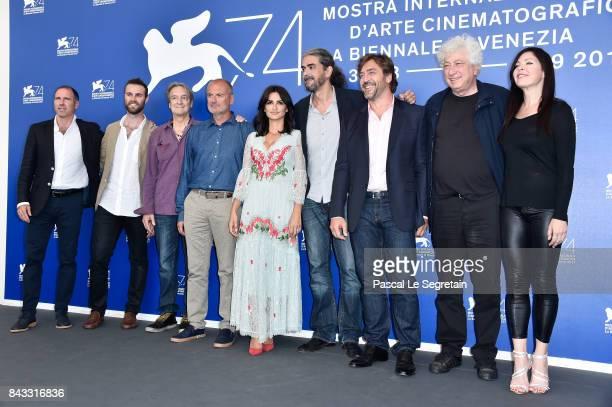 Miguel Menéndez de Zubillaga Fernando Leon de Aranoa and Avi Lerner attend the 'Loving Pablo' photocall during the 74th Venice Film Festival on...
