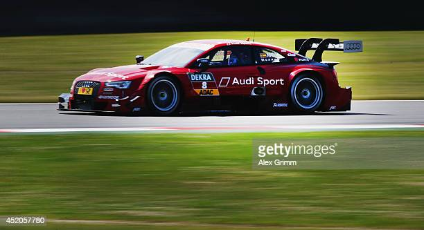 Miguel Molina of Spain and Audi Sport Team Abt Sportsline drives during the training session ahead of qualifying for the fifth round of the DTM...