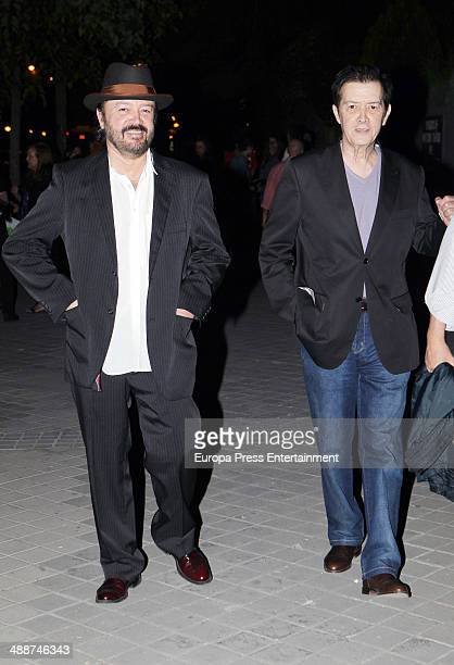 Miguel Morales and Ricki Morales attend the funeral for Antonio Morales widower of Rocio Durcal at Sagrado Corazon church on May 7 2014 in Madrid...