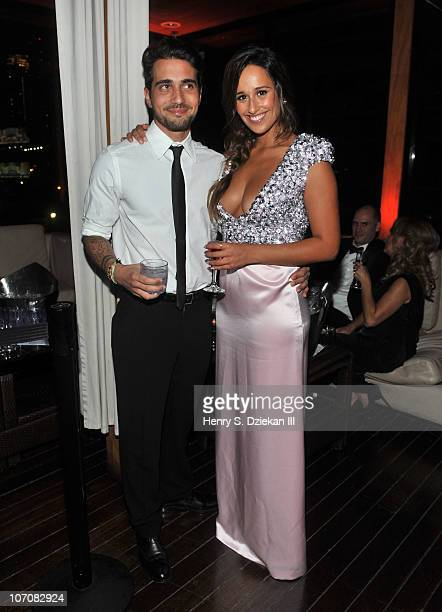 Miguel Mouzinho and Rita Pereira attend The 2010 International Emmys and Angel Champagne at Hudson Terrace on November 22 2010 in New York City