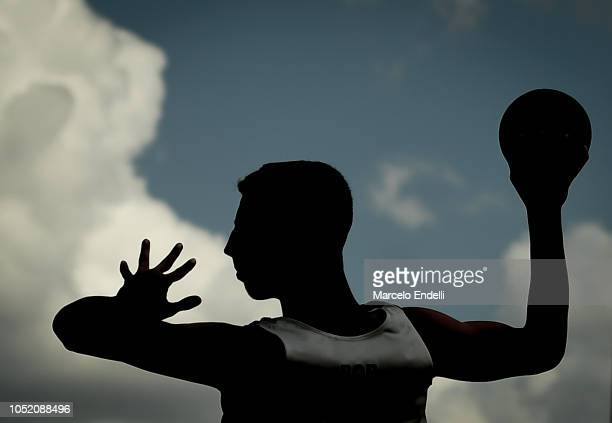 Miguel Neves of Portugal plays a shoot during day 7 of Buenos Aires 2018 Youth Olympic Games at Green Park on October 13 2018 in Buenos Aires...