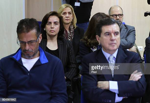 Miguel Ángel Bonet Fiol Ana Maria Tejeiro Losada Infanta Cristina of Spain Mercedes Coghen Alberdingk and politician Jaume Matas appear in court for...