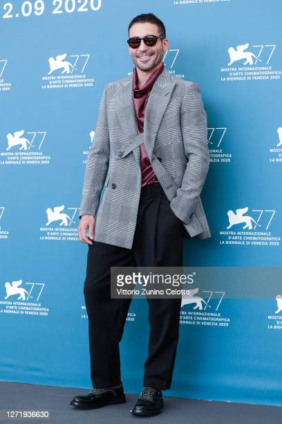 """Miguel Ángel Silvestre attends the photocall of the movie """"30 Monedas"""" - Episode 1 at the 77th Venice Film Festival on September 11, 2020 in Venice,..."""