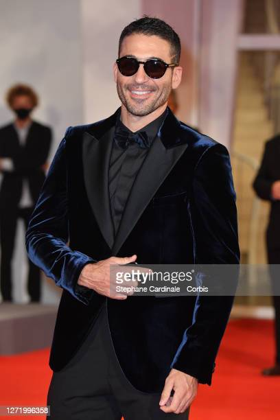 """Miguel Ángel Silvestre walks the red carpet ahead of the movie """"30 Monedas"""" - Episode 1 at the 77th Venice Film Festival on September 11, 2020 in..."""