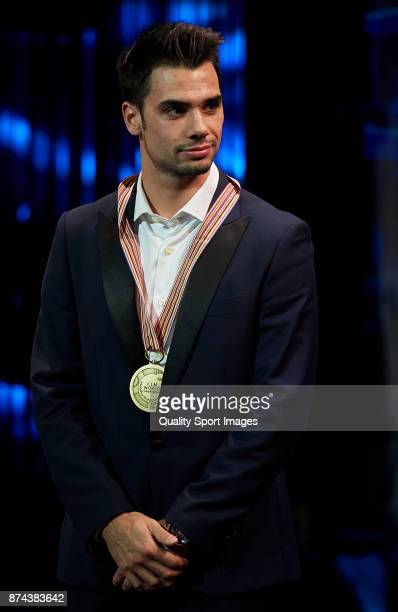 Miguel Oliveira of Portugal and Red Bull Ktm Ajo Ktm attends the FIM MotoGP Awards Ceremony at Palacio de Congresos de Valencia on November 12 2017...