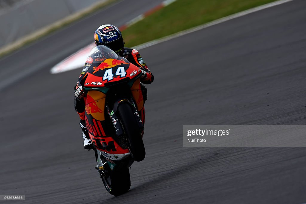 Miguel Oliveira (44) of Portugal and Red Bull KTM Ajo KTM during the free practice of the Gran Premi Monster Energy de Catalunya, Circuit of Catalunya, Montmelo, Spain.On 15 june of 2018.