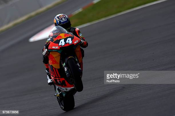 Miguel Oliveira of Portugal and Red Bull KTM Ajo KTM during the free practice of the Gran Premi Monster Energy de Catalunya Circuit of Catalunya...