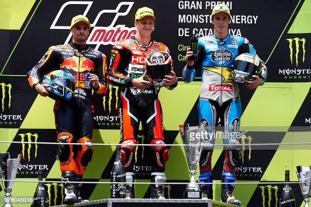 Miguel Oliveira of Portugal and Red Bull KTM Ajo KTM Fabio Quartararo of France and Mb Conveyors Speed Up Racing Speed Up Alex Marquez of Spain and...