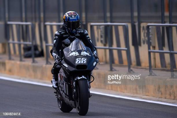 Miguel Oliveira of Portugal and Red Bull KTM Tech3 during the test of the new MotoGP season 2019 at Ricardo Tormo Circuit in Valencia Spain on 21th...