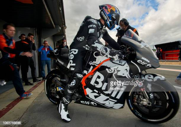 Miguel Oliveira of Portugal and Red Bull KTM Tech3 during the tests of the new MotoGP season 2019 at Ricardo Tormo Circuit in Valencia Spain on 20th...