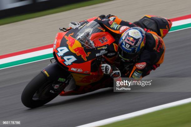 Miguel Oliveira of Red Bull KTM Ajo of Moto 2 during the Free Practice 1 of the Oakley Grand Prix of Italy at International Circuit of Mugello on...