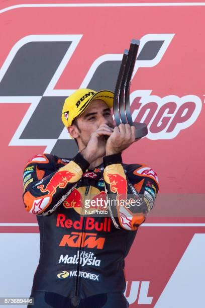Miguel Oliveira Red Bull Ktm Ajo Ktm during the race day of the Gran Premio Motul de la Comunitat Valenciana Circuit of Ricardo TormoValencia Spain...
