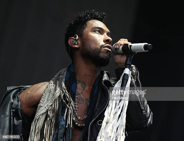 Miguel performs at the 2015 Landmark Music Festival at West Potomac Park on September 26 2015 in Washington DC