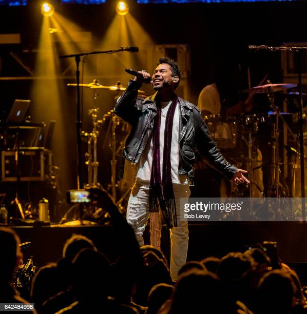 Miguel performs at the VIBES by Sports Illustrated Swimsuit 2017 launch festival on February 17 2017 in Houston Texas