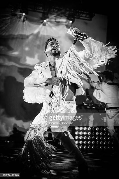 Miguel performs on stage at O2 Academy Brixton on October 13 2015 in London England
