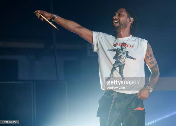 Miguel performs on stage at PNE Forum on February 24 2018 in Vancouver Canada