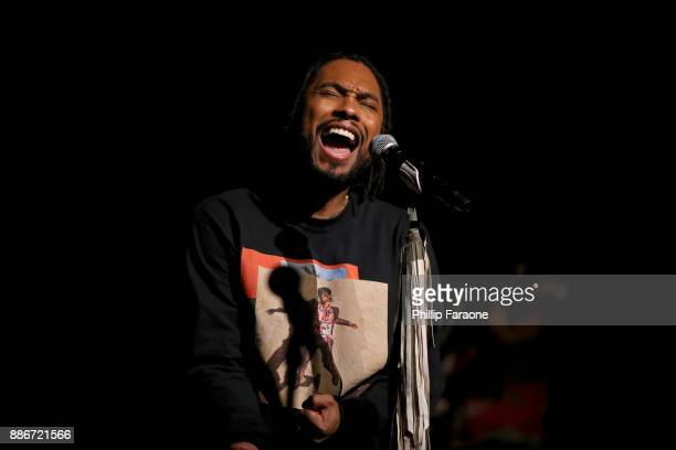 Miguel performs on stage during the Album Release Party LIVE on The Honda Stage at iHeartRadio Theater on December 5 2017 in Burbank California